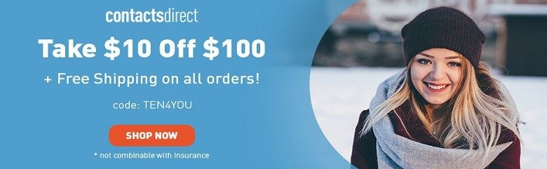 $10 Off Contacts Direct Coupon Code